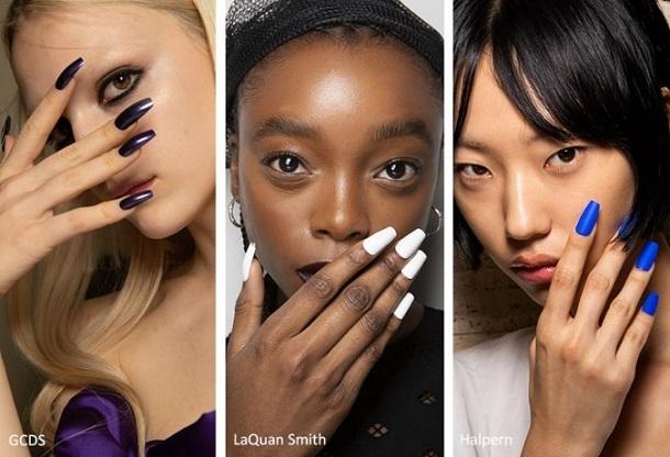 τετραγωνισμένα stiletto nails
