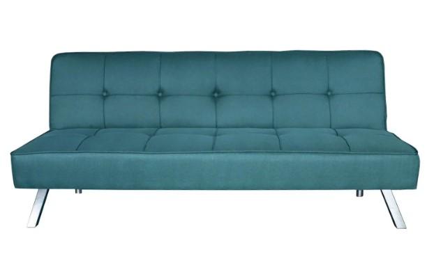 τριθέσιος μπλε καναπές κρεβάτι