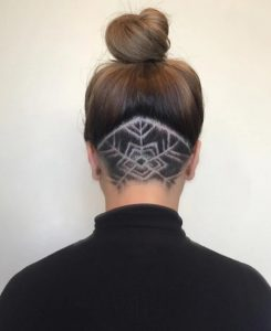 undercut σχέδιο γυναικεία μαλλιά