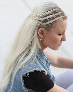 χτενίσματα μακριά μαλλιά πλεξούδες