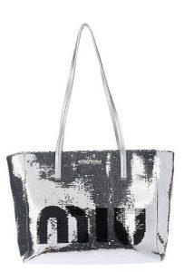 ασημί τσάντα