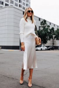άσπρα ρούχα πλεκτή μπλούζα