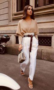 άσπρο παντελόνι μπεζ μπλούζα παντελόνια πρέπει έχεις