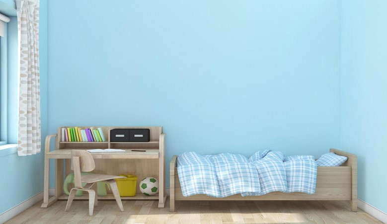 γαλάζιο παιδικό δωμάτιο