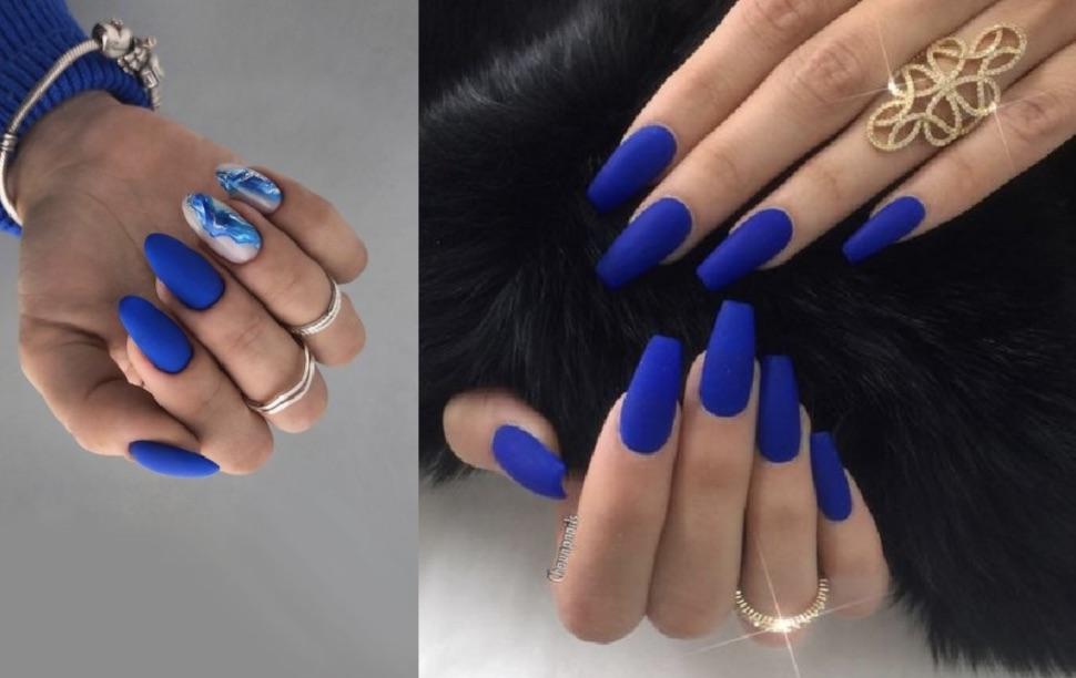 ιδέες για μπλε νύχια