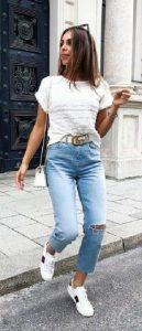 ξεβαμμενο γυναικείο τζιν παντελόνι 2021