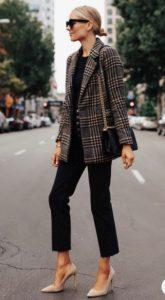 καρό blazer μαύρα ρούχα