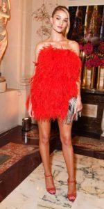 κόκκινο μίνι φόρεμα φτερά