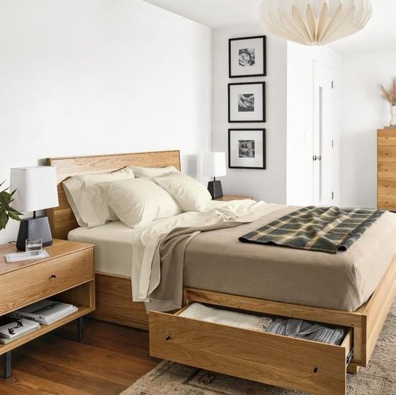 ξύλινο κρεβάτι αποθηκευτικό χώρο