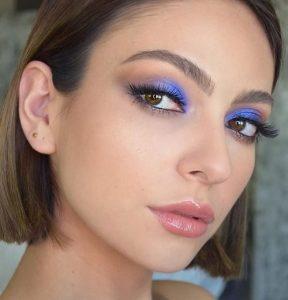 μακιγιάζ με μπλε σκιά