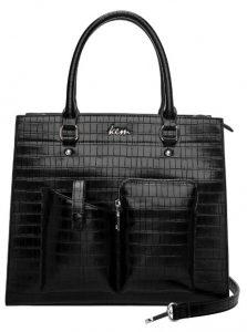μαύρη croco τσάντα tote