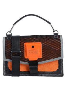 μαύρη πορτοκαλί τσάντα