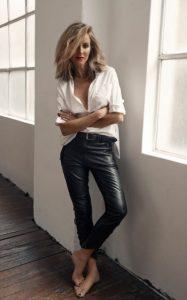 μαύρο δερμάτινο παντελόνι άσπρο πουκάμισο παντελόνια πρέπει έχεις