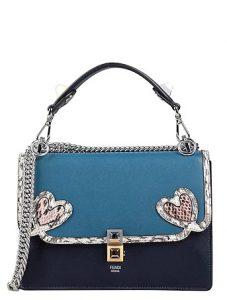 μπλε επώνυμη τσάντα