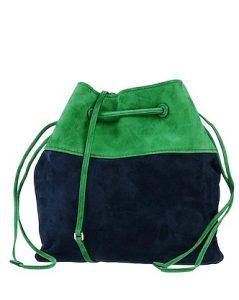 μπλε πράσινη τσάντα