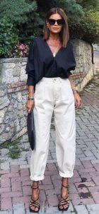 ντύσιμο με λευκό τζιν
