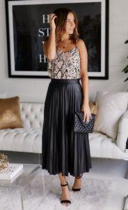πλισέ δερμάτινη φούστα λεοπάρ τοπ φούστες δεν πρέπει λείπουν