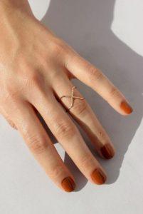 πορτοκαλί νύχια κοντά φθινοπωρινά νύχια