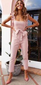 ροζ ολόσωμη φόρμα