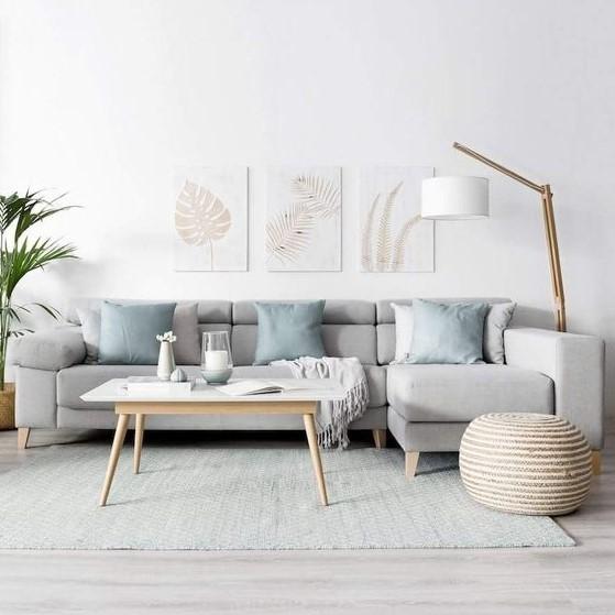 σαλόνι minimal διακόσμηση