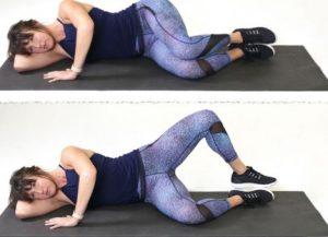 άσκηση για γλουτούς στο έδαφος ξαπλωμένη
