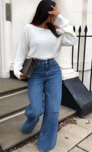 απλό χειμωνιάτικο ντύσιμο με τζιν
