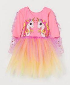 ροζ φορεμα μονοκερος