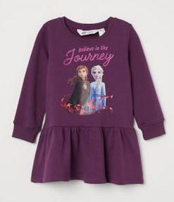 μοβ φορεμα frozen h&m