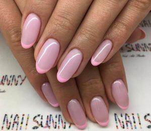 γαλλικό μανικιούρ με δύο ροζ