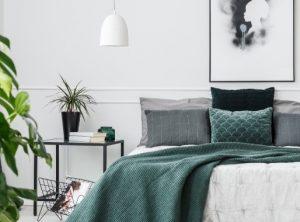 graues Pflanzenschlafzimmer