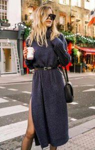γκρι χειμωνιάτικο φόρεμα