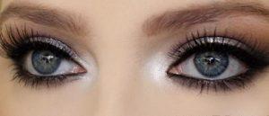 ματια γκρι ασημι σκια