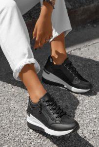 γυναικεία sneakers σε μαύρο χρώμα