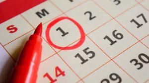 ημερολόγιο κυκλωμένη μέρα
