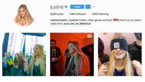 instagram justine ezarik