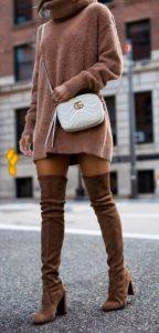 καφέ γυναικείες μπότες