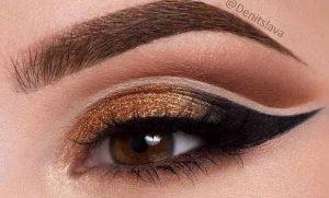 καφε ματια χρυση μαυρησκια