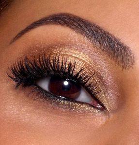 χρυση σκια καφε ματια