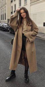 καφέ παλτό