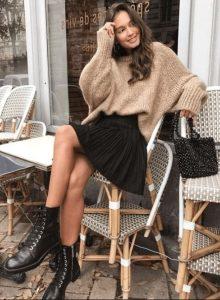 καθημερινό χειμωνιάτικο ντύσιμο με φούστα
