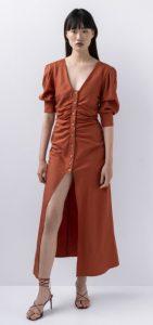 κεραμιδί φόρεμα