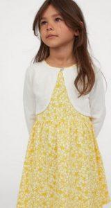 μπολερο ασπρο κιτρινο φορεμα h&m