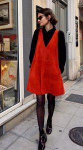 κόκκινο αμάνικο φόρεμα μαύρη μπλούζα καθημερινά φορέματα
