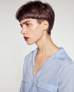 κοντά ίσια μαλλιά ξυρισμένα pixie κούρεμα