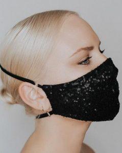 λαμπερή μάσκα αναπνοής σε μαύρο χρώμα