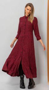 μακρύ φόρεμα σε κόκκινο χρώμα