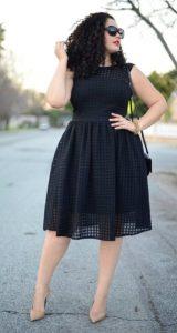 μαύρο φόρεμα άλφα γραμμή γόβες