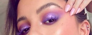 μοβ σκια για μαυρα ματια
