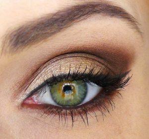 πρασινα ματια χρυση σκια