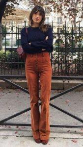 ψηλόμεσο κεραμιδί παντελόνι μπλε πουλόβερ tricks λεπτή